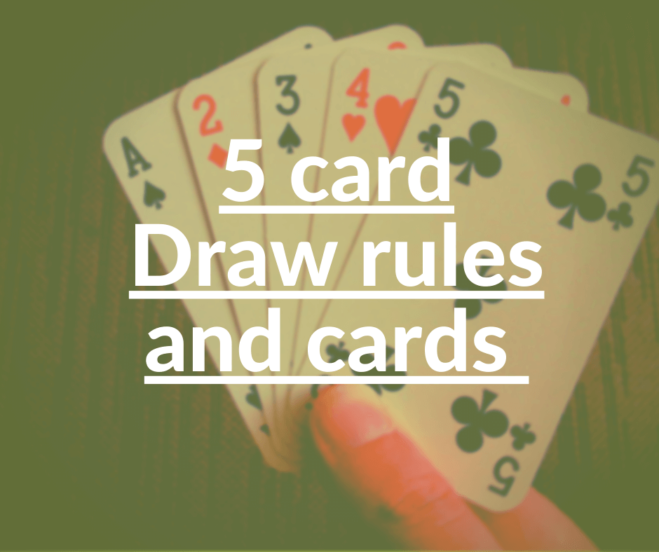 5 card draw poker rules
